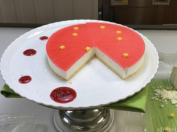 アップルムースケーキ。