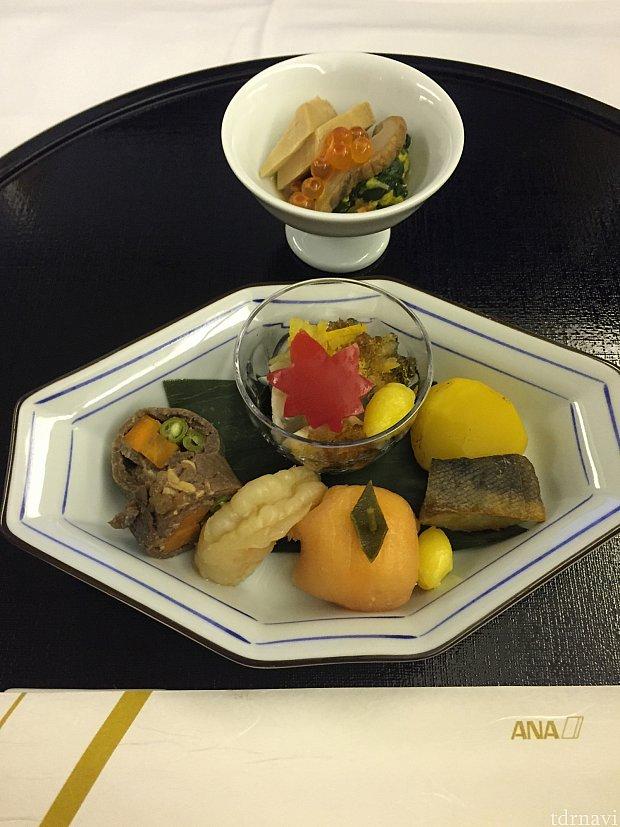 帰りの機内食ももちろん和食!