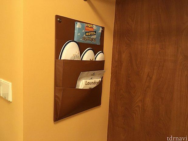 入り口付近にスリッパとお土産用袋が。お土産の持ち帰りに助かりました
