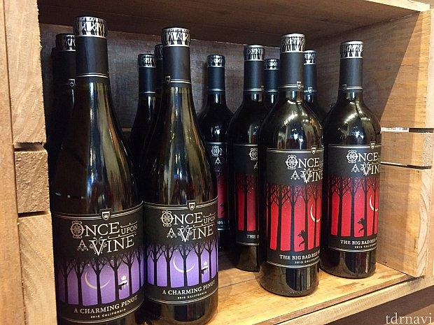Once upon a time ならぬ、One upon a Vine。Vineとはブドウの木。ディズニーらしいワインなんですが、ラベルを見てもらうと良くわかります。