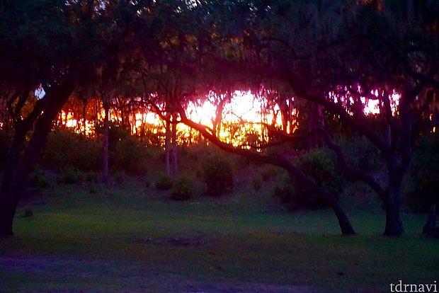 これがeverlasting sunsetです。実際はもっともっと綺麗です。