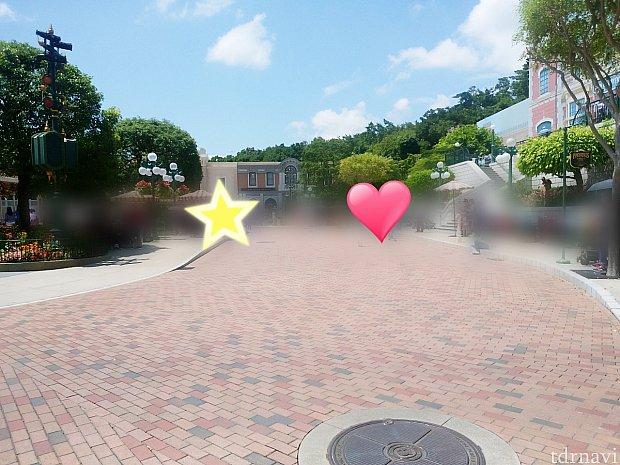 ハート→グーフィー・ドナルド側。星→ミニーちゃん・プルート側