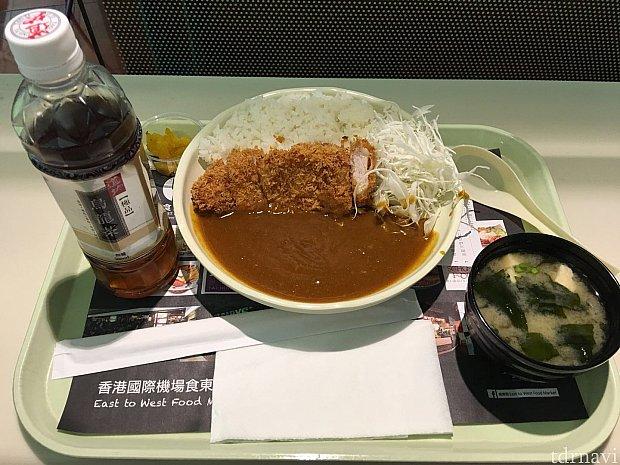 カツカレーセット+ウーロン茶@140HKD也