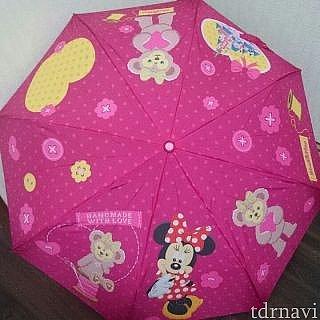 メイちゃんの傘は広がるとミニーちゃんが❤️❤️