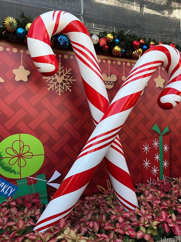 外にもクリスマスデコレーションがいっぱい♪