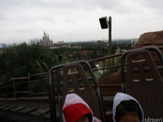 お城がよく見えます。