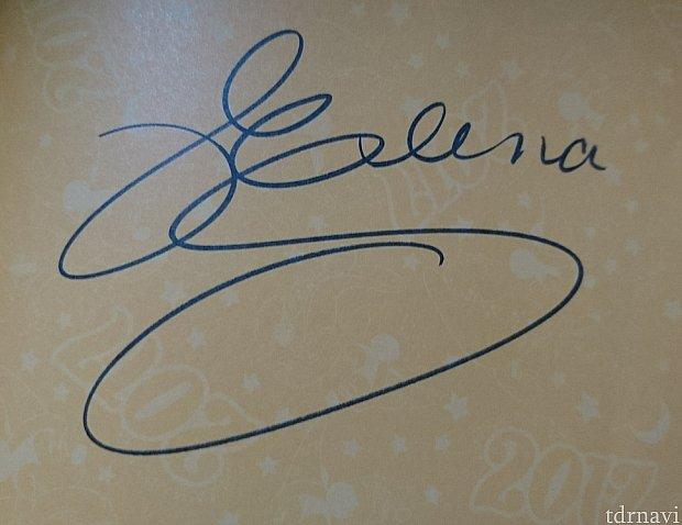 エレナのサイン!