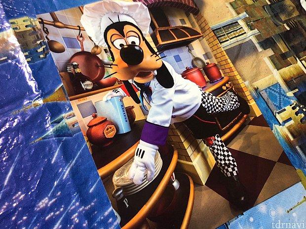 グーフィーのワンショ付き。あと入り口のミッキーと撮ったお写真が貰えます。