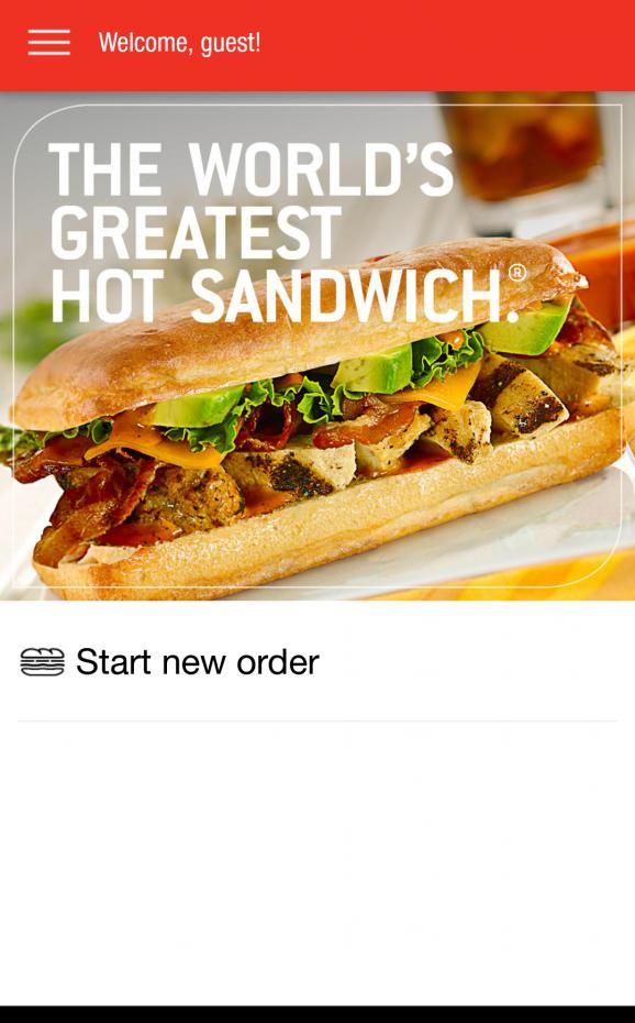 【アプリ】なんとアールオブサンドイッチのオーダー用アプリがあります!住所がアメリカじゃないと使えないのが残念(笑)