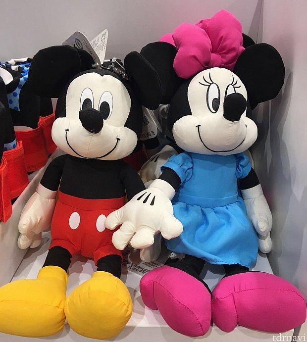 ミッキーとミニーちゃんのバッグ。
