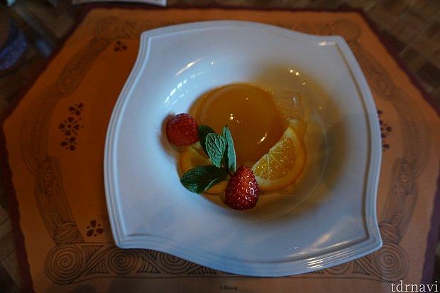 オレンジとパッションフルーツのゼリー