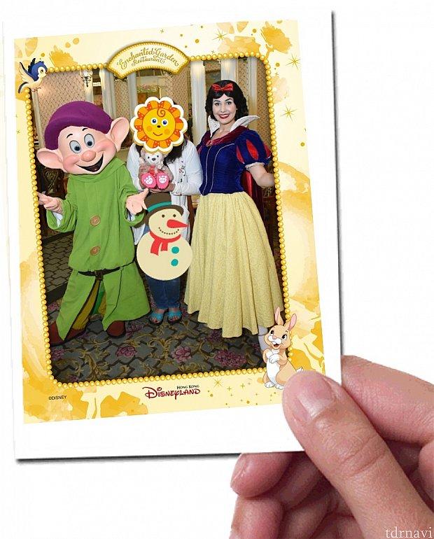 エンチャで白雪姫とドーピーに出会えます🤗