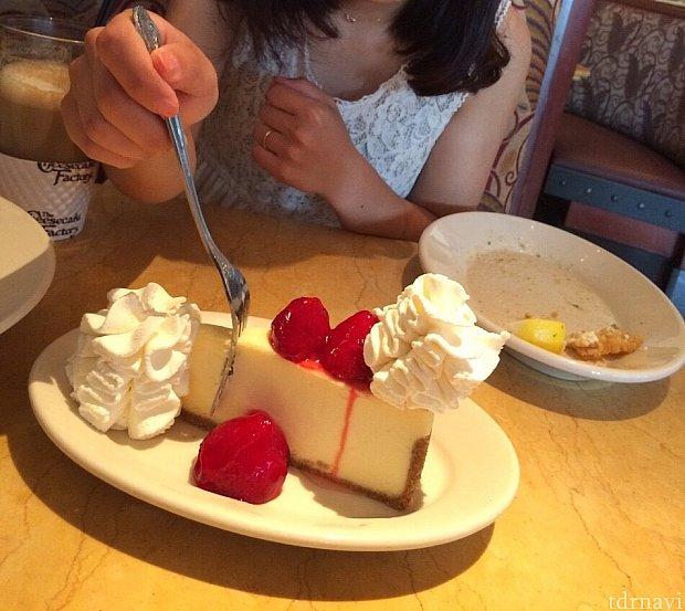 ストロベリーチーズケーキ
