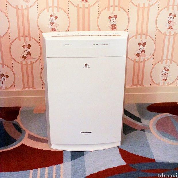 空気清浄機も常備されてます
