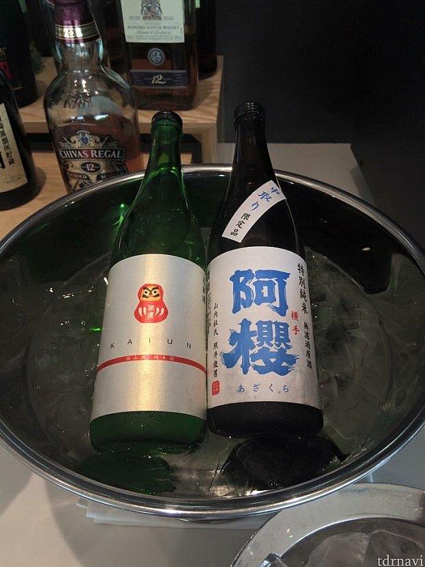 ファーストラウンジの日本酒🍶