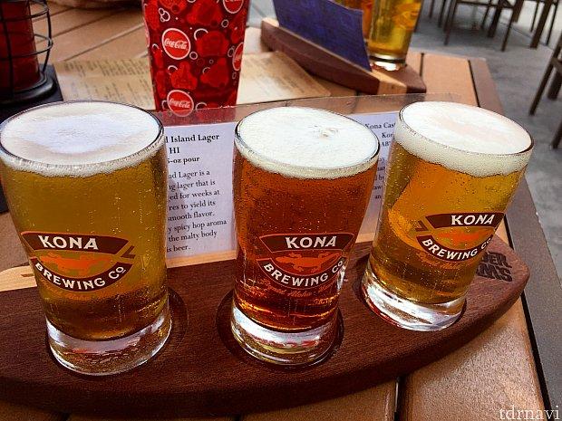 ビールフライトは3種類のビールが飲み比べられます。