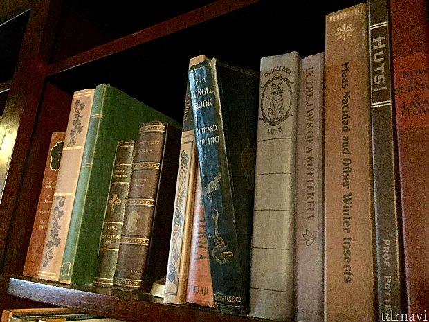 ちょっと飛び出ているのがジャングルブックの本。この本がこの隠し扉のスイッチだそうです。