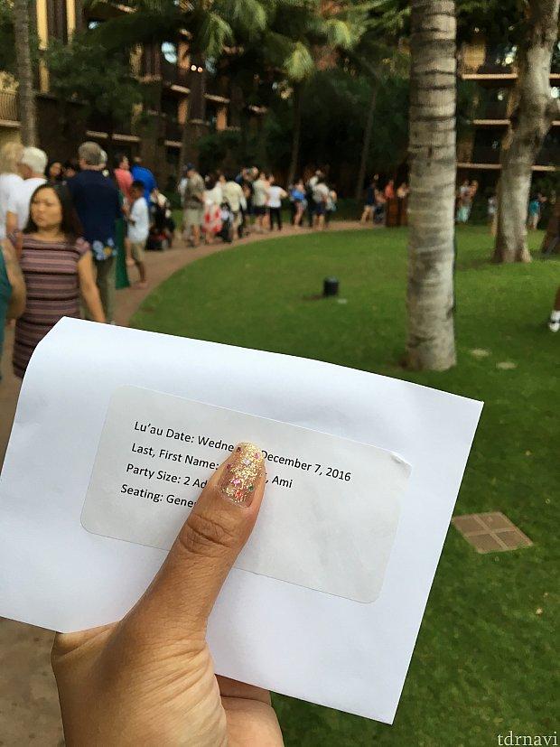 入口でこの封筒を見せて入ったら‥席の案内までこの列!!完全に出遅れた!!!(笑)