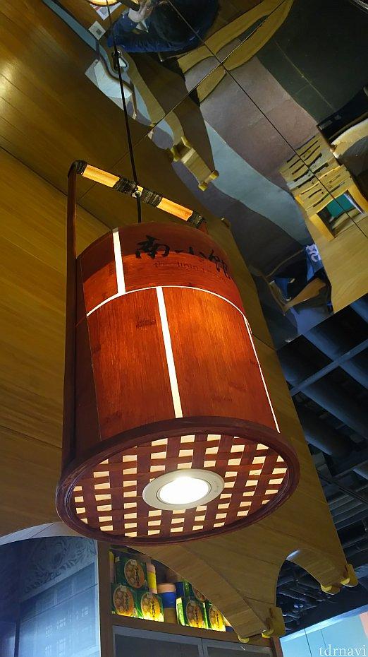 天井のライトも蒸し器をイメージ?