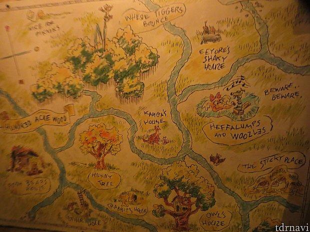 クリストファーロビンが描いた地図