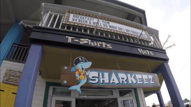 どうやらご当地キャラ的なポジションにいるパイレーツなサメ。色んなところで見かけました(笑)