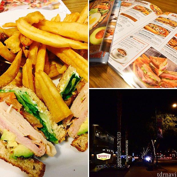 パークとホテルのレストラン①「デニーズ」夜遅くでも空いてて助かりました。