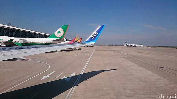 様々な機体が並んでいます
