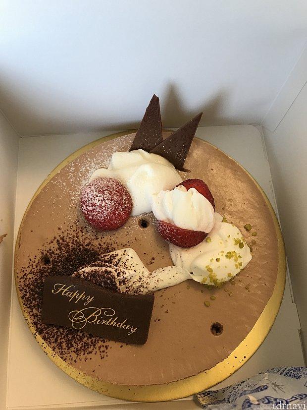 サプライズのバースデーケーキ。
