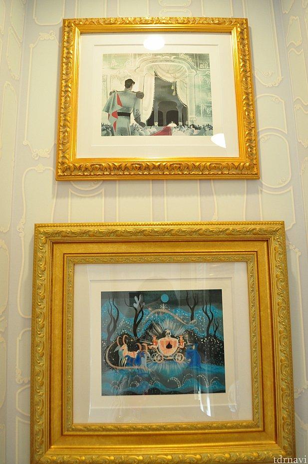 絵画もアニメーションのシンデレラが飾られていました。