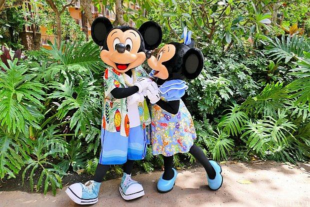 ミッキーとミニーちゃんのペアグリ♪