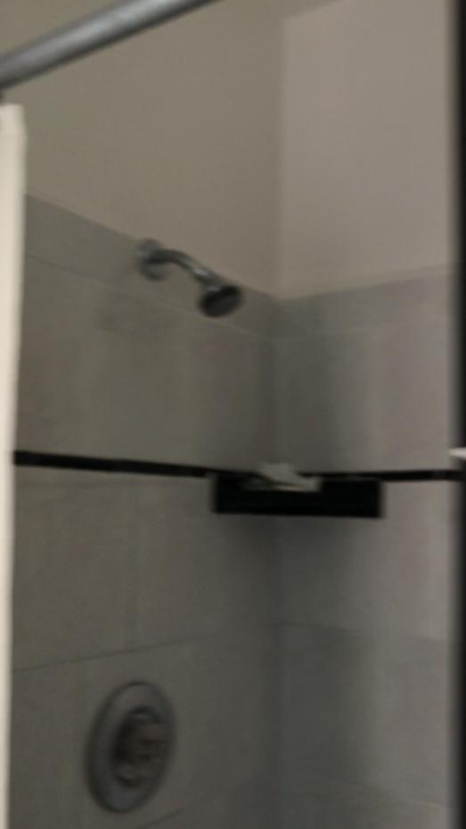 シャワーは固定式。