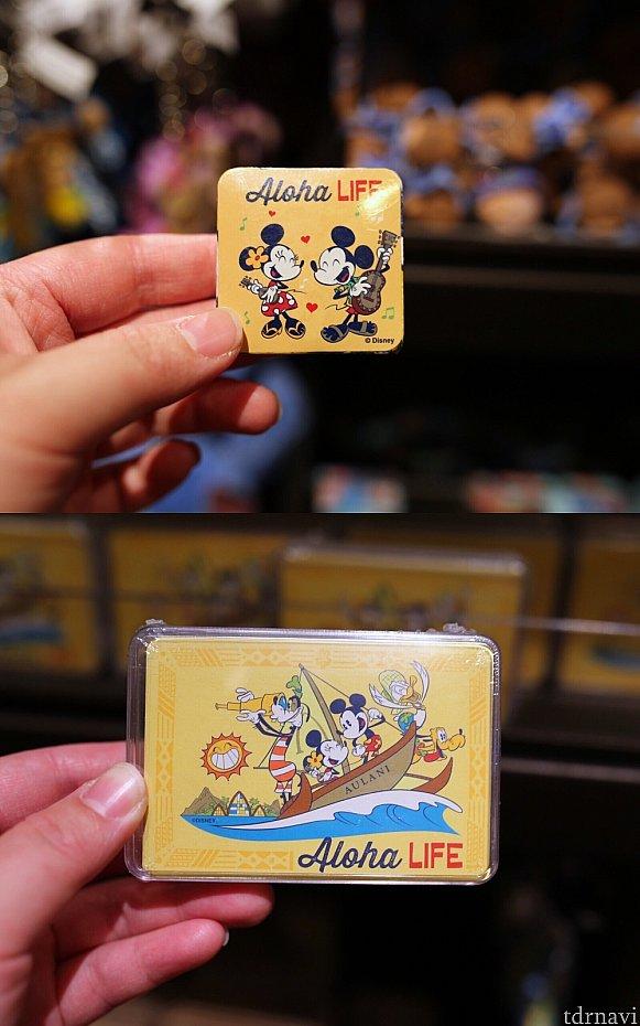 上:マジックタオル7ドル、下:トランプ10ドル