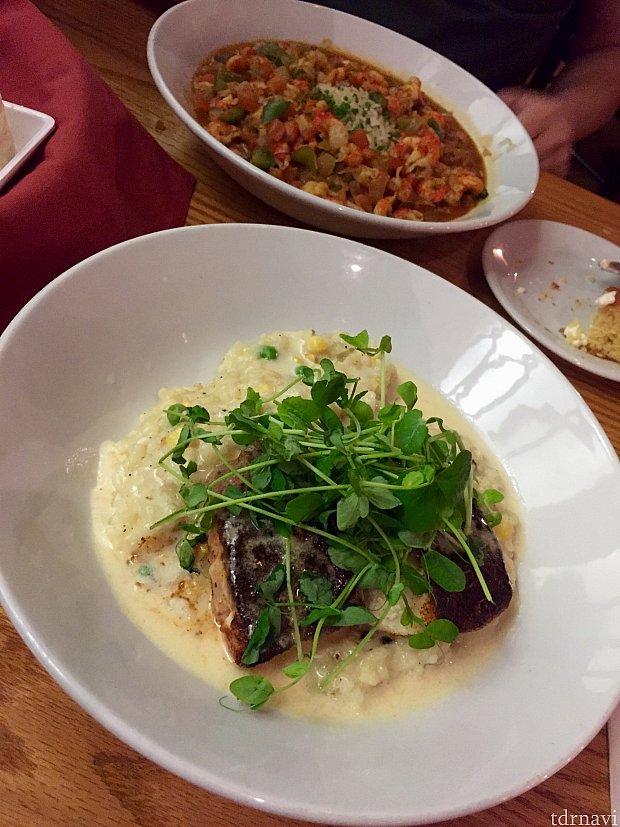 サーバーさんオススメの、Lake Charles Risottoはこの日は白身魚。とってもクリーミィで本当に美味しかったです!これまた食べに行きたい!