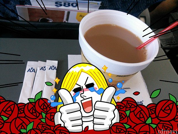 国内線アメリカンエアー内コーヒー貰いました☕️