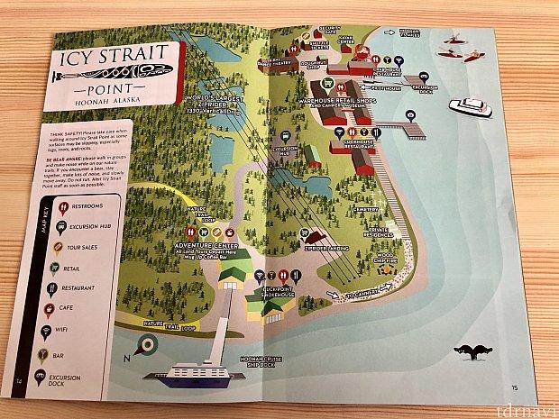 ガイドブック内の地図になります