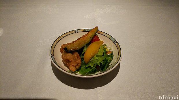 鶏の唐揚げ(取り分け後に撮影)