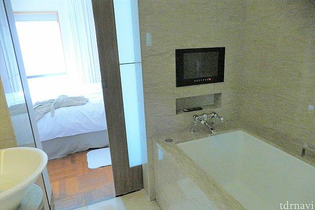お風呂にもテレビが付いています(*'▽')ちなみにNHKも観ることができました!