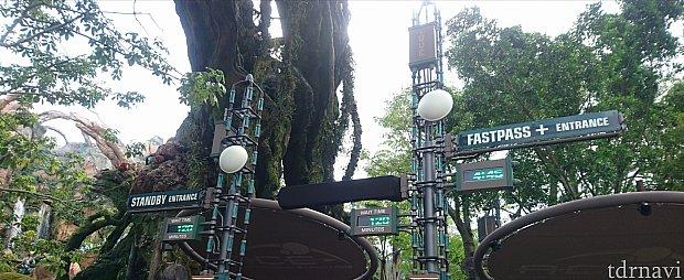 右がFP+エントランス、左がスタンバイエントランスです。この入口は常に人でごった返してました。