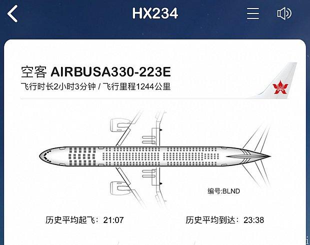 飛行機はエアバス330でした。