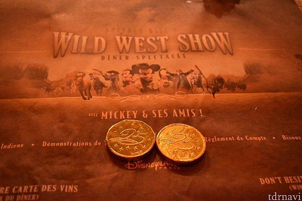 最後にもらえるコインは25周年マークでした。