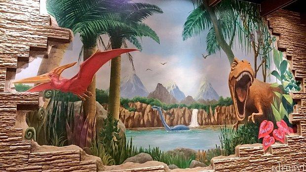 恐竜要素は壁紙とか…