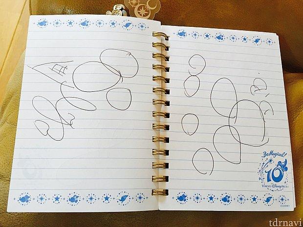 ダッフィーとジェラトーニのサイン