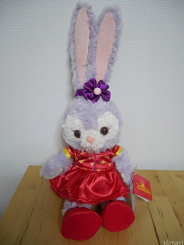 つい衝動買いした春節イベント衣装のステラルーちゃん❤小さめサイズです😌耳が長くてからだとのバランスが絶妙😍エンポーリアムでお迎えしました😆 198HKドル
