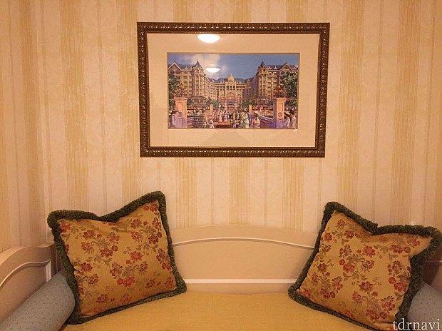 ランドホテルの絵が素敵