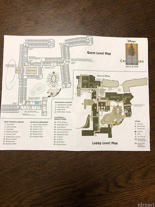 ホテルの案内図
