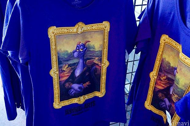モナリサ風のピグメントのTシャツ