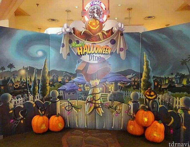中に入るとハロウィンの装飾が!特にここで写真を撮ったり・・・ということはありませんでした。