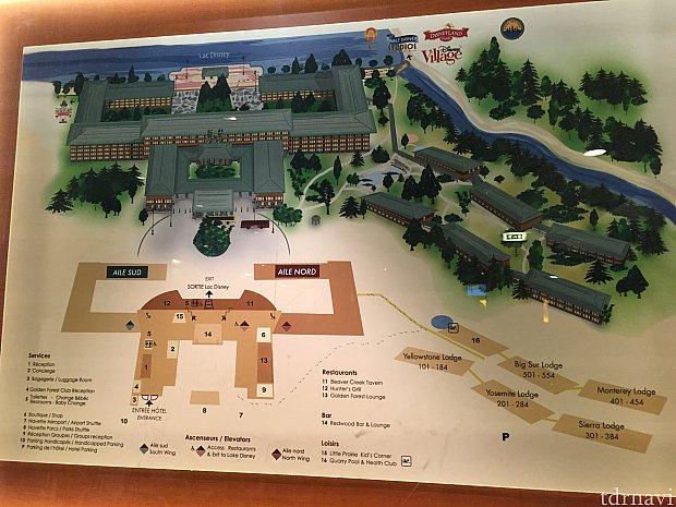 かなり大きなリゾートで部屋数は1000室を超えます。部屋の位置によってはパークから遠くなってしまうので注意が必要です。