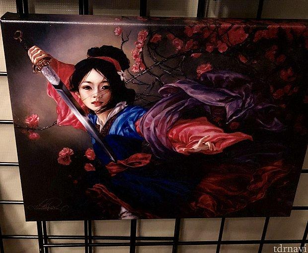 ムーランはまるで香港映画のポスターの様ですね。動きがある素晴らしい作品だと思います。