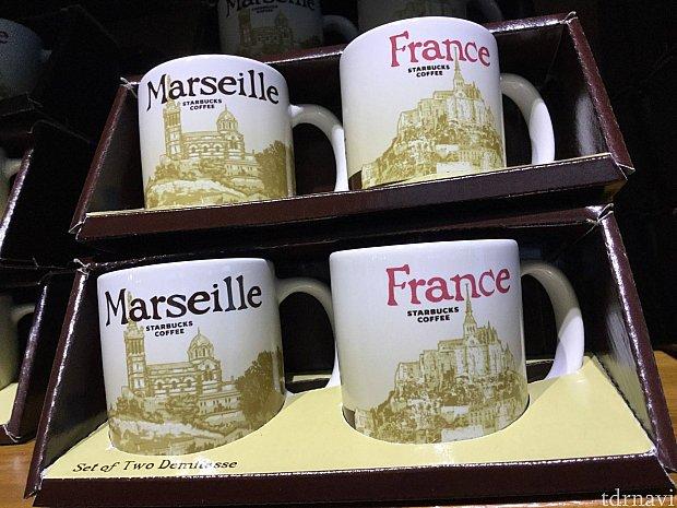 スタバで見つけたマルセイユとフランスのミニマグセット